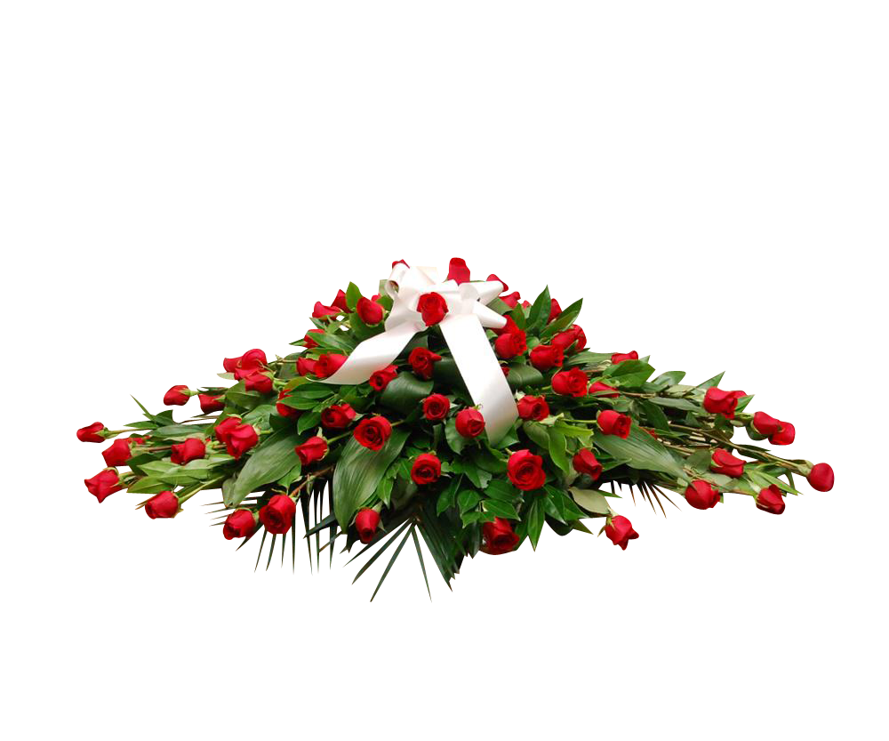 60 Red Rose Casket Spray
